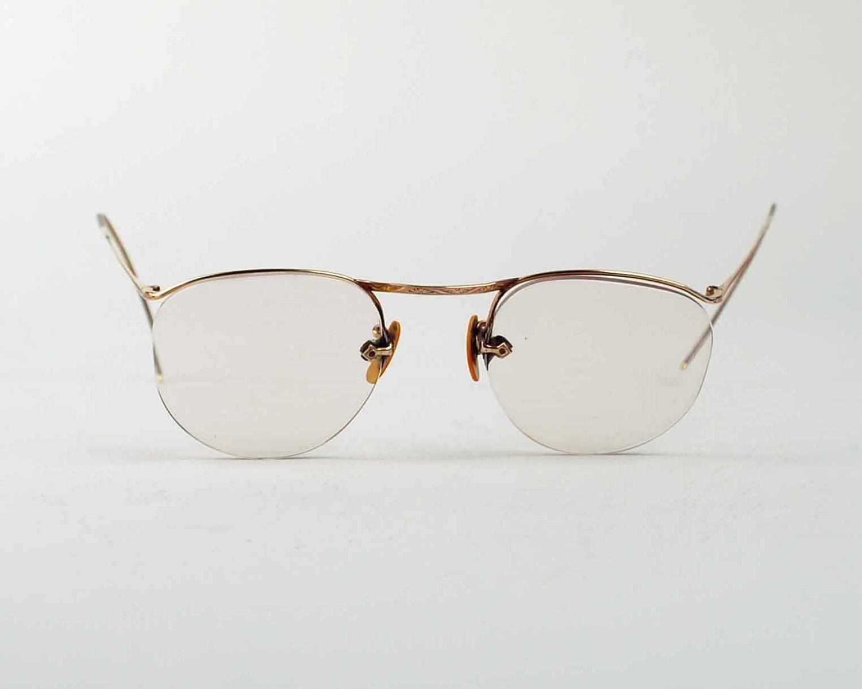 vintage wire eye glasses 12k gold filled frame