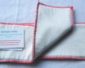Red Bamboo Fleece Cloth Diaper Insert M/L