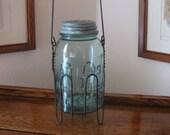 Vintage Blue Atlas Mason Jar