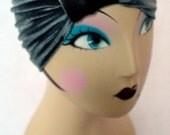 Petite/ Kid's Size Grey Velvet Turban Headband