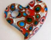 FUNKY Multicolored heart pendant