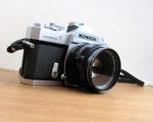 Konica Autoreflex T vintage SLR camera 35mm with original case and strap, 1960s