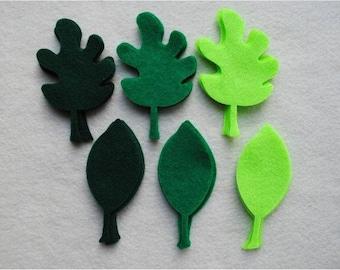 24 Piece Die Cut Felt Leaves, Style No. 1