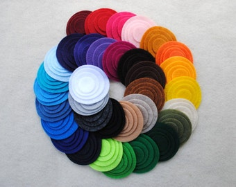 160 Piece Die Cut Felt Circles, all 40 colors included