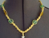 Fire Hole Canyon WY Green Agate Pendant Necklace