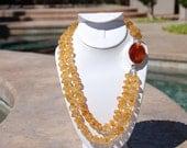 Beaded Citrine, Citrine and Carnelian necklace, beaded necklace, bead necklace, Citrine necklace, beaded jewelry, Citrine