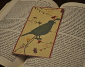 Laminated Quail Bookmark