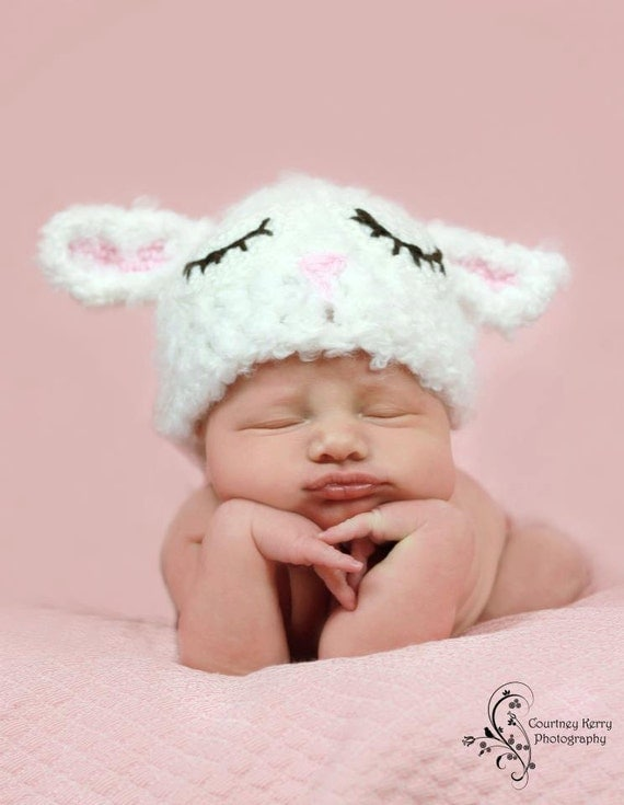 Sleeping sheep farm animal hat