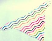 Bright and Modern Baby Bib with Rainbow Chevrons