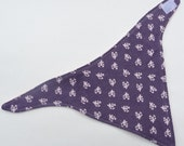 Lavender Flannel Bandanna Drool Bib- Teething Bib