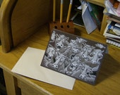 "Cow Notecards 5 Pack, from the drawing ""Mad Cows"""