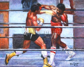 Sylvester Stallone Rocky Balboa Apollo Creed art print 12x16 signed and dated Bill Pruitt