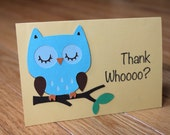 Special listing for lgoyanes: Owl Thank You Cards- Thank whoooo