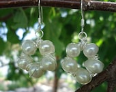 Freshwater Pearl Wire Wrapped Earrings