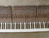 1905 Kimball Piano KEYS -- Full Set --Vintage  - Steampunk - Recycled - recycle