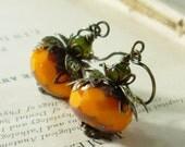 Pumpkin Earrings, Fall Harvest, Halloween Orange