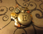 Steampunk Initial E Necklace