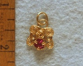 Ruby Angel Wire Wrapped Pendant in Gold Filled Wire No. 3 of 500
