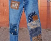 Bohemian Patched Jeans for the Holiday Season
