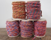 Spooled Bright Pink and Orange Cotton String