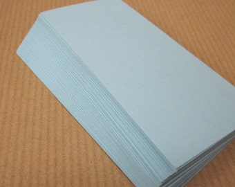 50 Small Pale Blue Cards