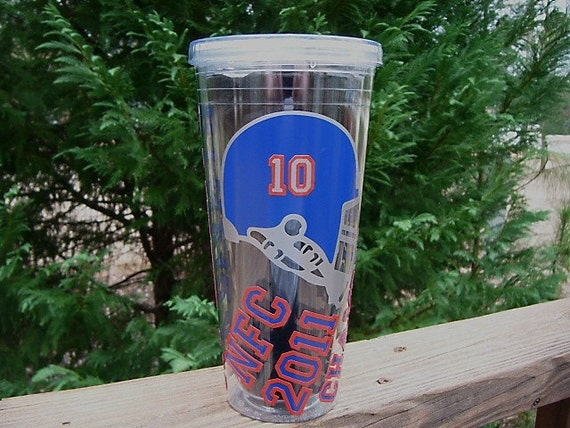 NY Giants Personalized NFC Champions 32 Ounce Acrylic Cup - Done in Giants Red, Blue and Silver