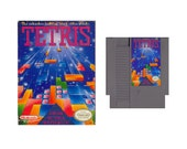 Original Nintendo NES Video Game 1989-Tetris used in original box with instruction booklet, tagt team