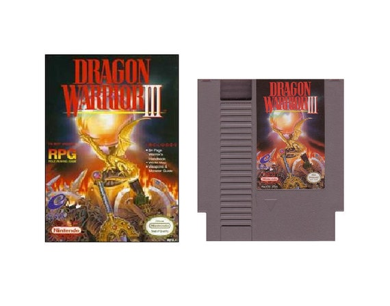RESERVED For Danielle- Dragon Warrior III - Original Nintendo NES Video Game 1992- used in original box with explorer's handbook, tagt team