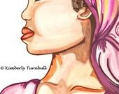 Portrait African Woman 4 (Original Watercolour) Kim.T 2011