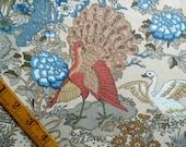 Vintage Bird Sewing Fabric, Cotton, Fat Quarter