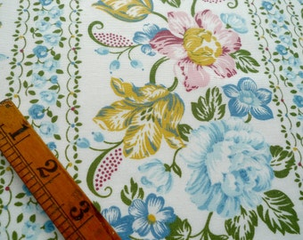 Floral Fabric, Remnant Piece, Sewing Supplies