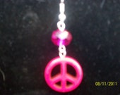 peace symbol earrings - peace and love