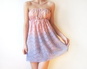 SALE Ombre Pink to Mauve - Ombre Romantic dip dyed lace camisole - Pastel Strapless  camisole dress - hand dyed lace cami - pink, lavender