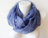 Mauve Lace - purple, lavender hand dyed scarf - Circle Scarf Soft Infinity Scarf - WhimsyTime -  Limited Edition -