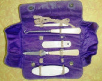 vintage accessories ...FRENCH IVORY MANICURE Set ...