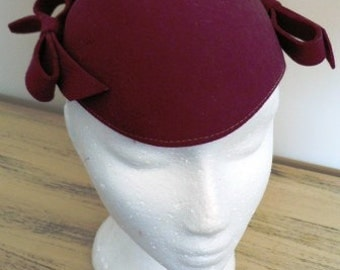 sale 20% off all vintage hats  ... Burgundy Sassy Ribbons WOOL GATSBY FLAPPER lovely Vintage ...