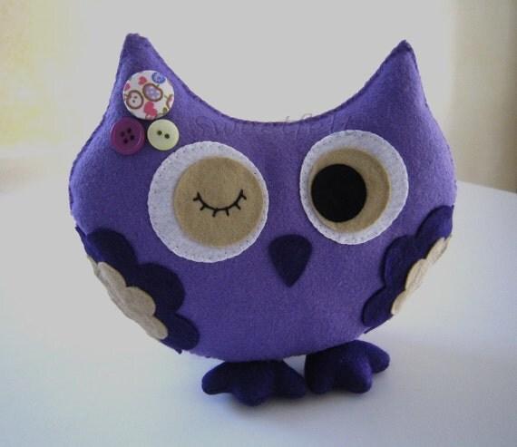 Miss Owl purple