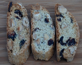 Biscotti Cantuccini  Cookies Almond Cranberry  Italian  Holiday Cookie Gift