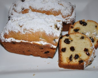 Rum Raisins Pound Cake Sweet Bread lot of 2  Edible Holiday Gift