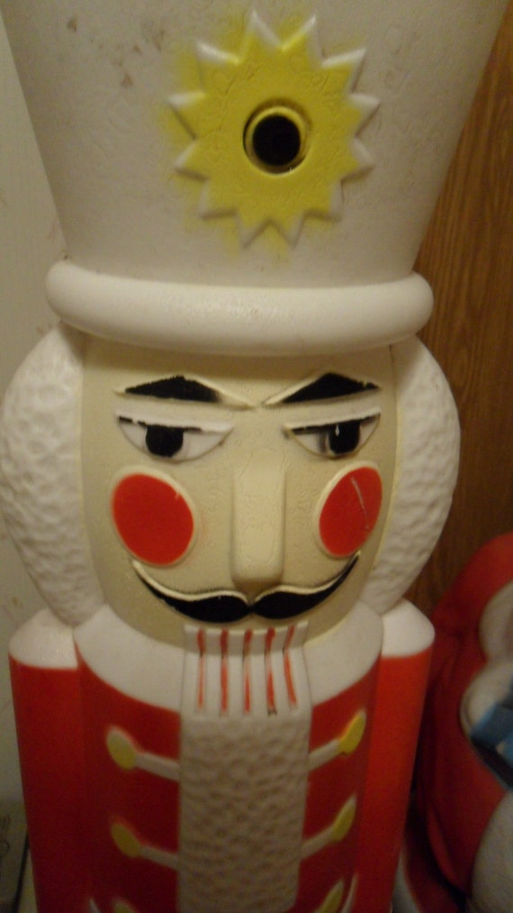 1987 Blow Mold Outdoor Nutcracker Ornament  40 inches tall