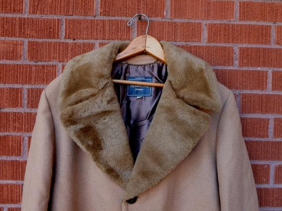 SALE Vintage Coat Men's Shop JCPenney Wool Tan 1970s 40R