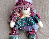 SUSIE - The girl with the long hair - Shelf sitter or door stop - Product Closeout Price