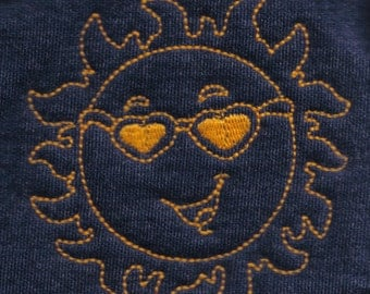 Cute Sun Embroidery Pattern