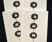Trio of Wreaths Christmas Cards - set of 12 with envelopes