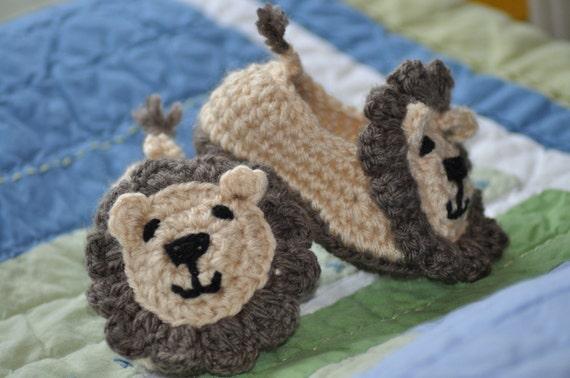 Crochet Lion Booties