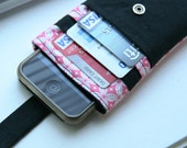 iPhone wallet / iPhone sleeve / iPhone cover / iPhone 5 / iPhone 4s - Pink