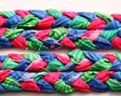 Braided Headband / Boho Headband / Hippie Chic / Yoga headband - Watermelon