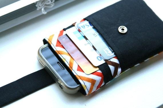 iPhone wallet / iPhone Sleeve / iPhone Case / iPhone 4s / iPhone 5c - Chevron