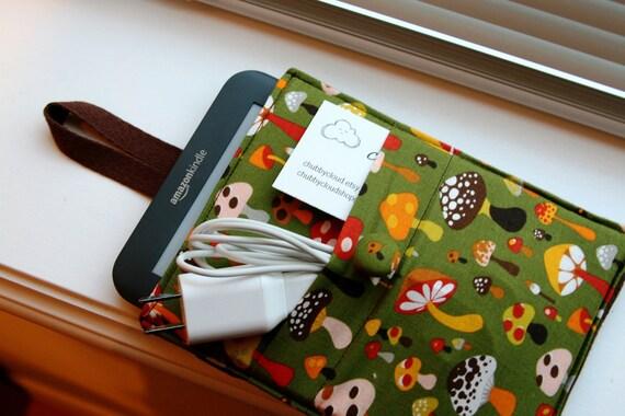 Kindle Case / Kindle Cover / Kindle Sleeve /  Kindle Fire HD / Kindle Paperwhite - Mushrooms