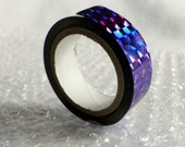 """Purple Metallic Tape - 1 roll of Space Tape (50 ft long, 1/2"""" wide)  Holographic, metallic, shimmer for Hula Hoop Decoration"""